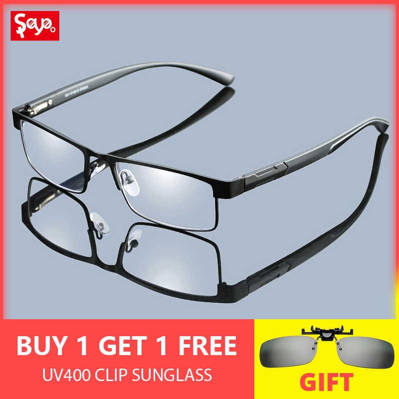 aeaa6825eb SAYLAYO de titanio gafas de lectura Vintage portátil gafas de presbicia  lupa visión gafas receta lente