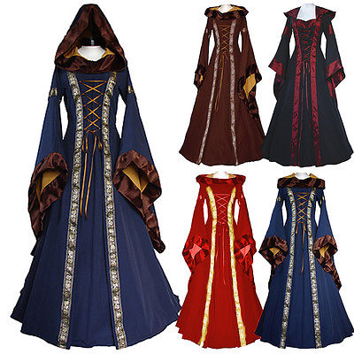 vestido Women Costume Medieval Maiden Fancy Cosplay Over Dress Womens Cosplay Victorian Costume Halloween Costumes For Women