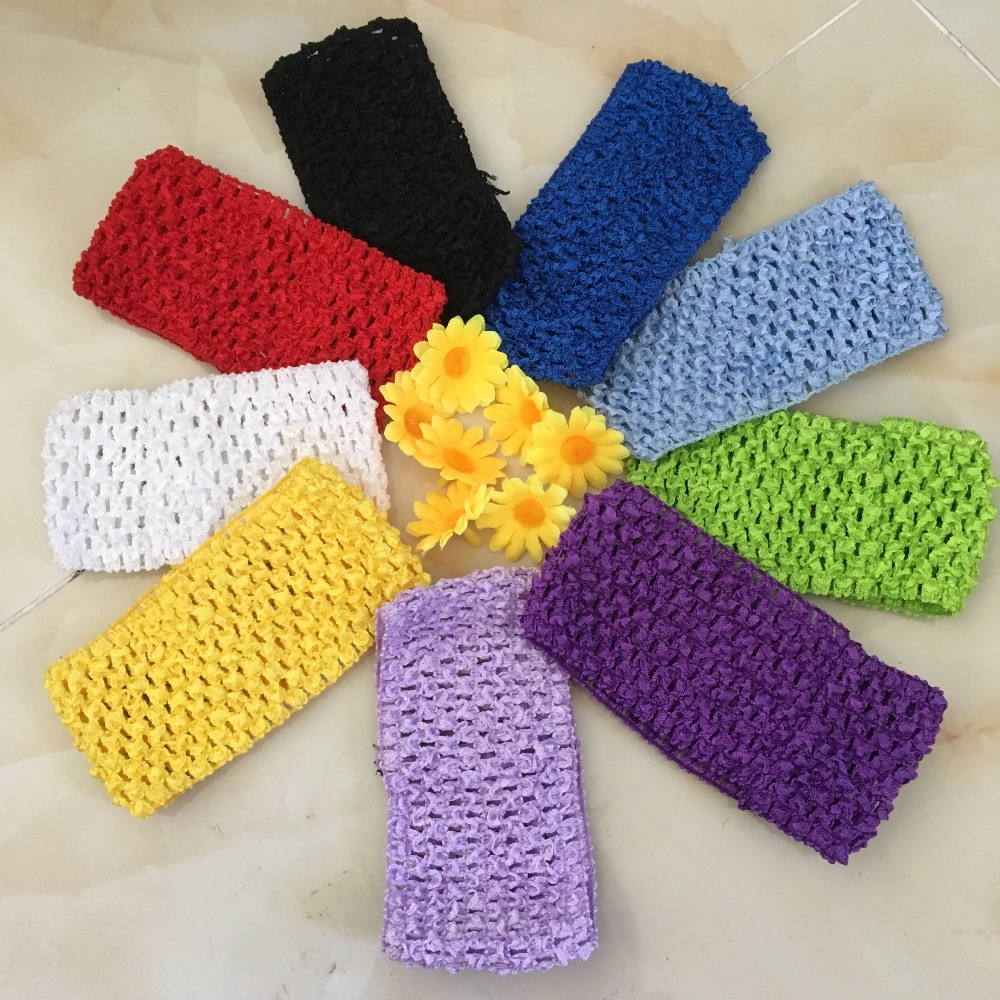 Hot Sale 7cm Baby High Elastic Headband Girl Knit DIY Baby Shower Wrap Chest Tutu Tulle Rolls Ballet Skirt Decoration-B