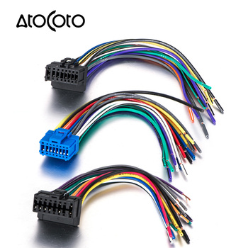 Samochód ISO przewód zasilający wieża stereo złącze wiązki przewodów kabel z przejściówką do Pioneer DEH p-series 2003 16 Pin