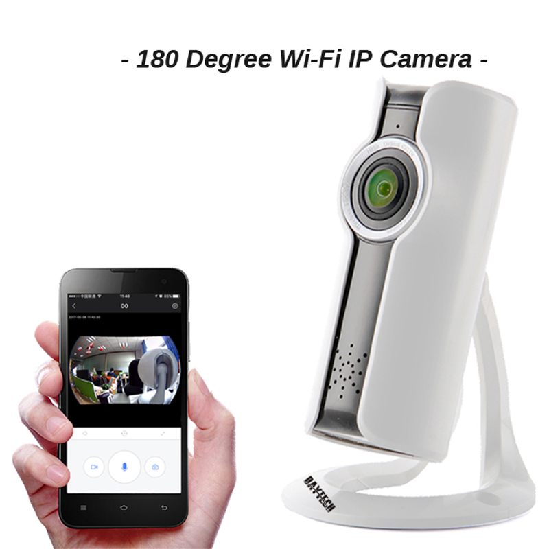 daytech wireless security ip camera wifi mini panoramic surveillance cctv indoor p2p network. Black Bedroom Furniture Sets. Home Design Ideas