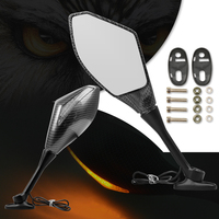 Motorcycle Rearview Mirror Side Mirror with Turn Signals LED Lights for KAWASAKI NINJA 650R ER6F ER6N ZX9R Z1000 ZX10R Z900 Z800