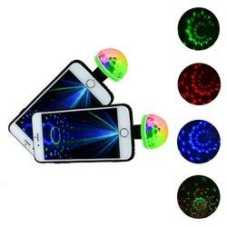 New 5W USB Laser Light Mini RGB LED Disco Ball Shape Stage Effect Convenient Party Club DJ Light Mobile Phone PC Power Bank HOT