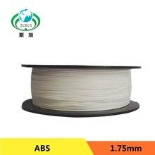 2017 3d color blanco de doble extrusora filamento impresora 1.75mm abs filamento impresora 3d de piezas para createbot, makerbot reprap etc
