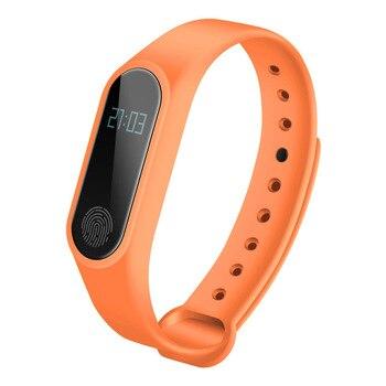 IP67 M2 สมาร์ทสายรัดข้อมือ OLED Touch Screen สมาร์ทนาฬิกาผู้หญิงผู้ชายกีฬา Step BT 4.0 Heart Rate การตรวจสอบการนอนหลับส...
