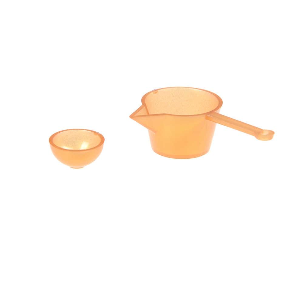 10 sztuk/partia 1/12 Mini zastawa stołowa 1:12 Dollhouse miniaturowe rysunek widelec Pot kuchnia zestaw żywności zabawki akcesoria lalki udawaj zagraj zabawki