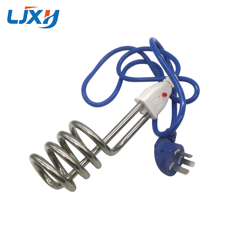 LJXH Electric Immersion Water Heater Element 220V Portable Fast Stainless Steel Heating Pipe For Bucket 2000W/2500W/3000W/3500W