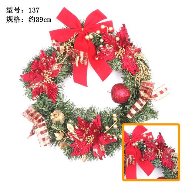 Export Christmas Circle Wreath Wall Ornaments Decoration Hand