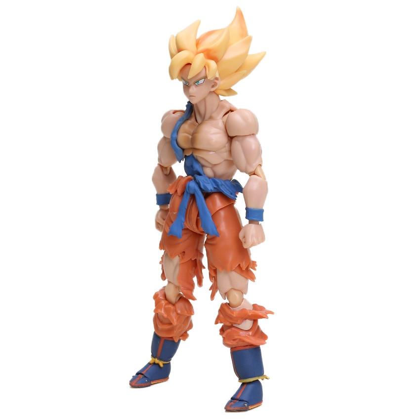 Dragon Ball Z Action Figure Gohan Goku Vegetto Vegeta Trunks Piccolo Freeza 18 with rotating joints 16
