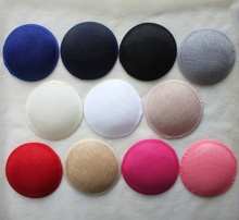 13cm White Millinery Form Round Buckram Base Fascinator For Women 20pcs/lot Free Shipping