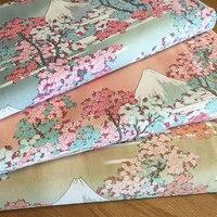 140x100cm Japan Prints Cotton Fabric For Patchwork Stretch Cotton Poplin Women Kids DIY Sewing Skirt Tilda