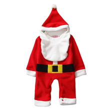 Baby Clothing Set Kids Little Boys Cute Christmas Santa Clause Romper Cosplay Costume with Hat &Beard