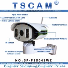 TSCAM new SP-P1804SWZ Full HD 1080P 2.0MP IP Camera Wireless Wifi 6-22mm Optical Zoom with TF/Micro SD Card Slot Pan/Tilt