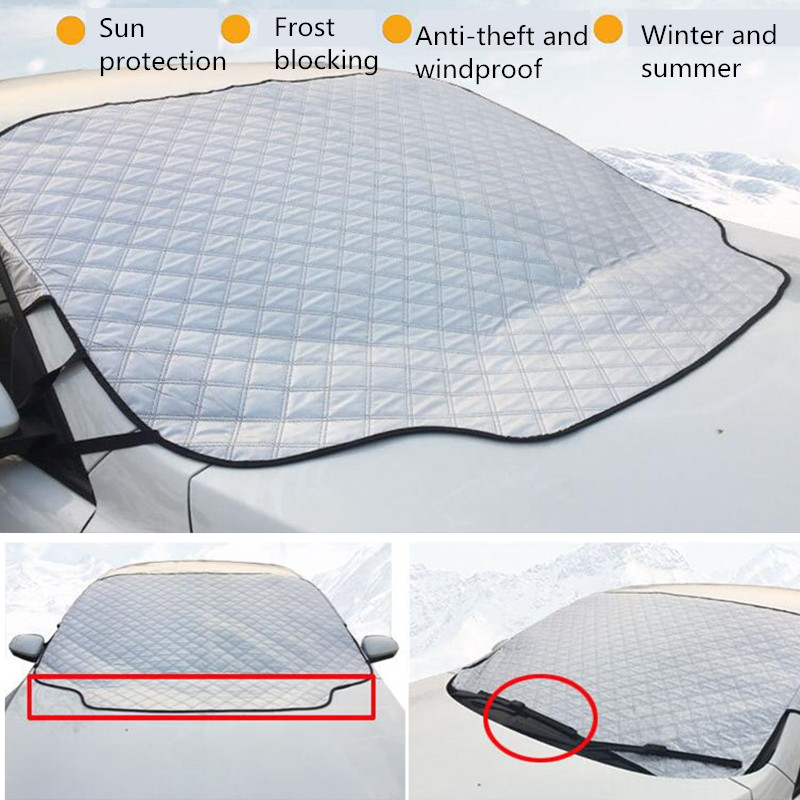 Magnetic 1 PC Car Windshield Sun Shade Thickened Anti-Wind Sun  Sun Rain Snow Dust Protection Window Protectors Cover