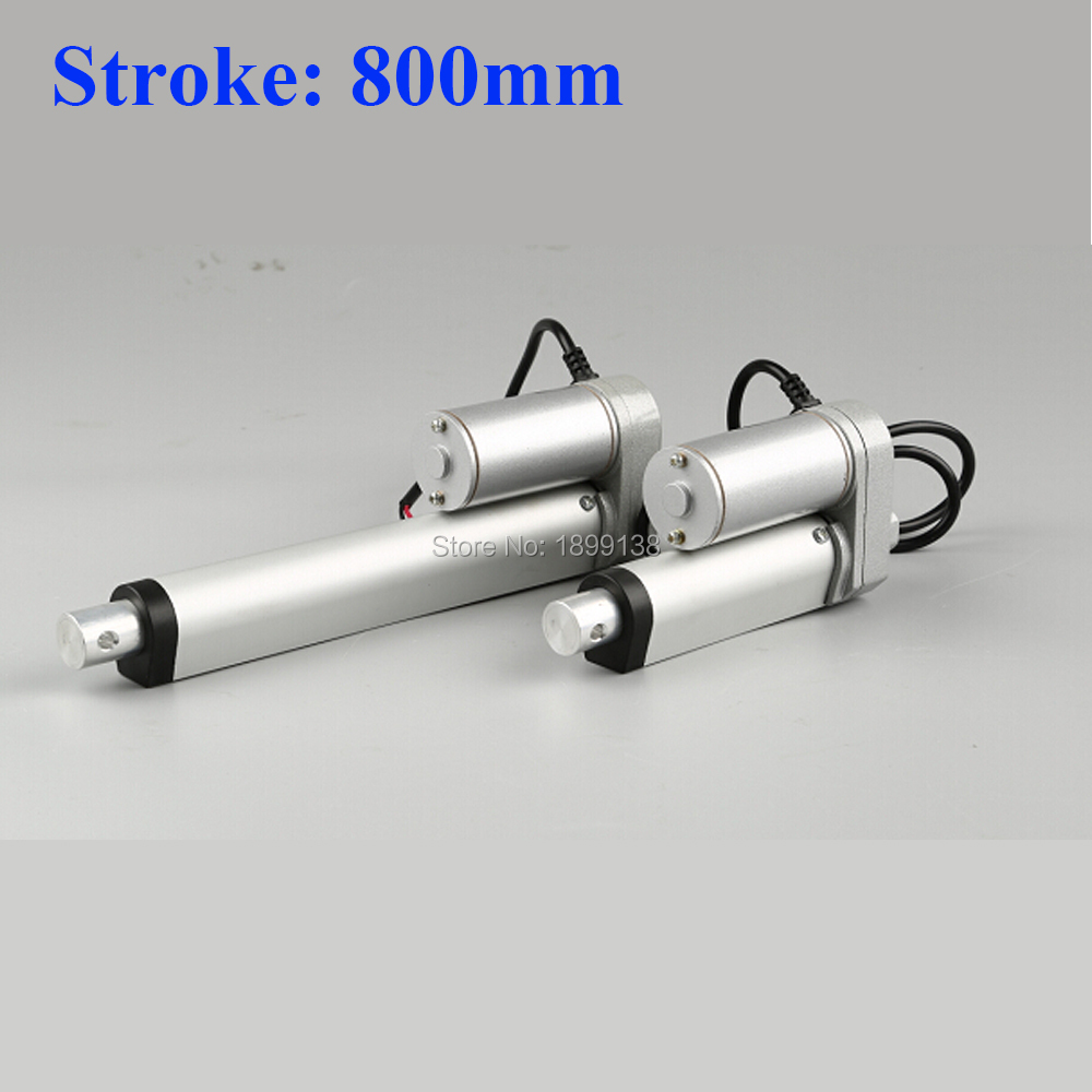 Electric Linear actuator 800mm Stroke linear motor controller dc 12V 24V 36v 200 350 400 600