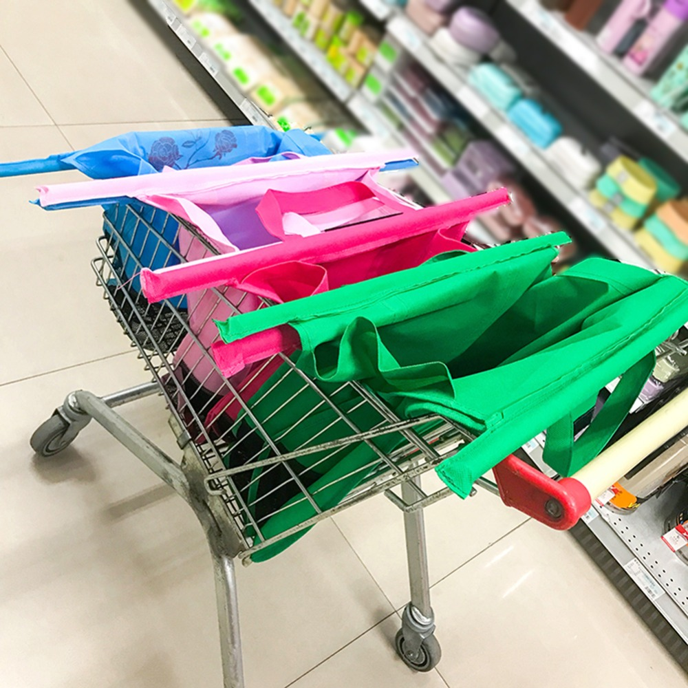 2 In PACK 2 in pack x FOLDABLE SUPERMARKET SHOPPING TROLLEY BAGS
