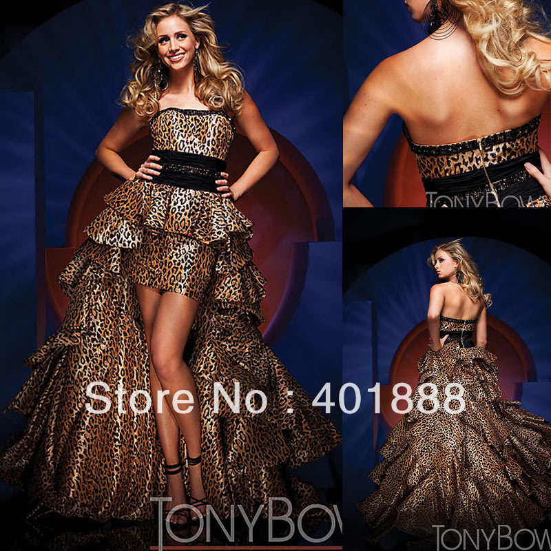 Off Shoulder Strapless Short Front Long Back New Fashion Leopard Print Wedding Dress In Dresses From Weddings Events On Aliexpress Alibaba