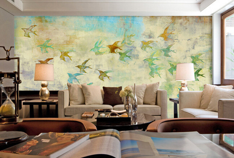 The custom 3D murals,beautiful fairy tale children's room sky bird painting ,living room sofa TV wall bedroom wall paper the custom 3d murals the new york times center building street black and white living room sofa tv wall bedroom wall paper