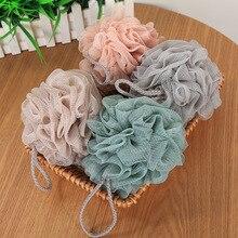 Kolifu 1pcs Bath Ball Scrubber Shower Body Cleaning Mesh Nylon Sponge Rich Bubbles Loofah Massage KLF015