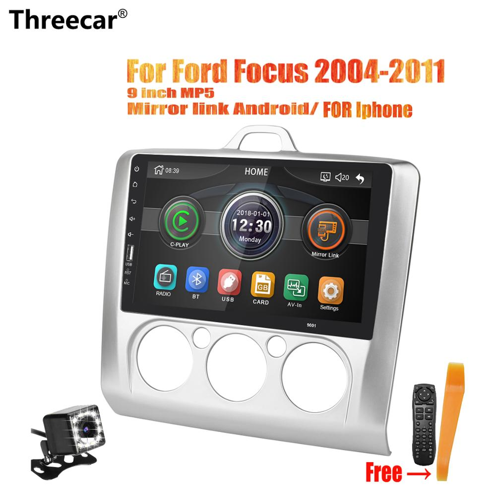 Threecar Mirrorlink iPhone Android 9.0 Car Radio Multimedia Player For Ford Focus 2004 2005 2006 2008 2009 2010 2011 No AndroidThreecar Mirrorlink iPhone Android 9.0 Car Radio Multimedia Player For Ford Focus 2004 2005 2006 2008 2009 2010 2011 No Android