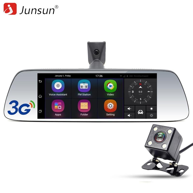 Junsun 7 Car GPS Navigation Android 5 0 Special 3G DVR Camera Rearview Mirror Dual Lens