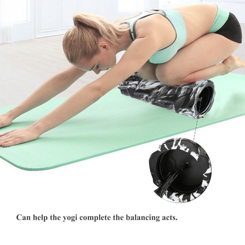 3 Speed Yoga Column Body Massage High Intensity Vibrating Foam Roller Yoga Massager Massage Column Vibration Leaf Shape