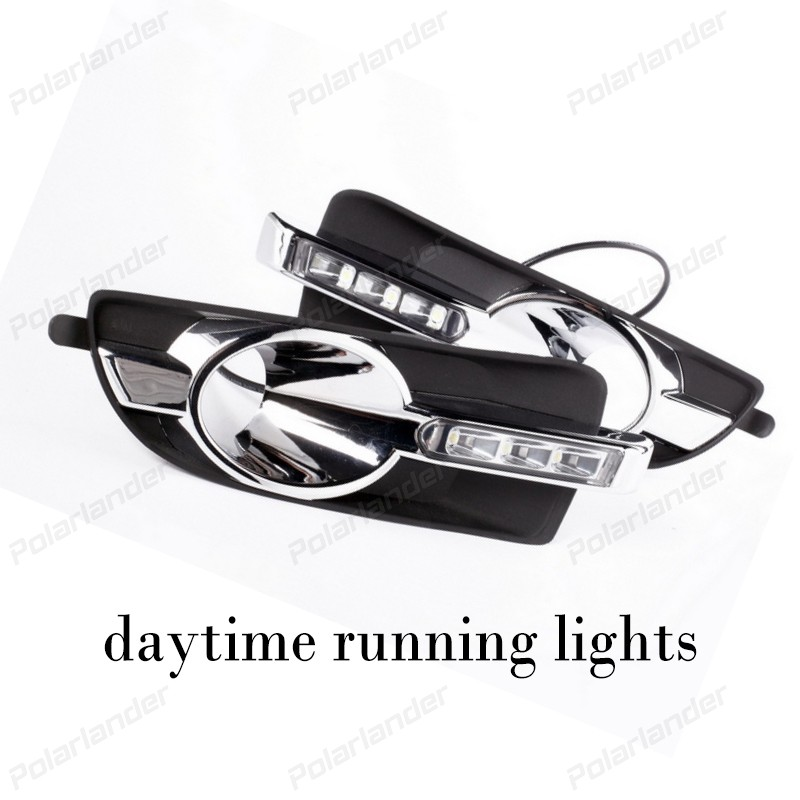 DRL For B/uick L/acrosse 2008-2012 Car LED Daytime Running Lights / Day Driving Light With Fog Lamp Hole drl for chevrolet captiva 2013 2016 daytime running lights double color led day driving light with lamp door free shipping
