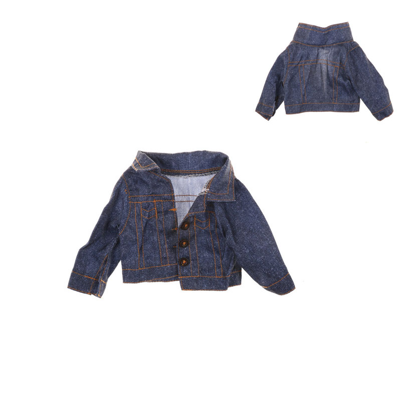 The five-star Doll Clothes Doll Jeans Wear Winter Coat For 18 inch American Girl Doll Clothes, Any 43cm Baby Doll american girl doll clothes princess anna dress doll clothes for 16 18 inch dolls baby doll accessories x 3