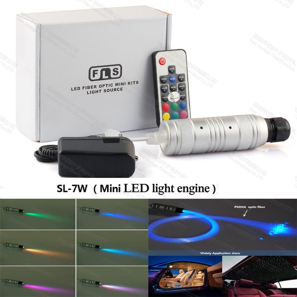 12v 24v 7W mini-fibre optique ronde moteur de lumière de générateur de projecteur