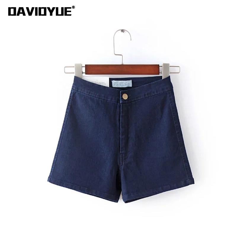 bb83c01c5328 2018 Summer High Waist Shorts Women Denim Shorts Ladies Hot Cotton Black  Blue White Sexy Skinny Short Jeans Female Short Mujer