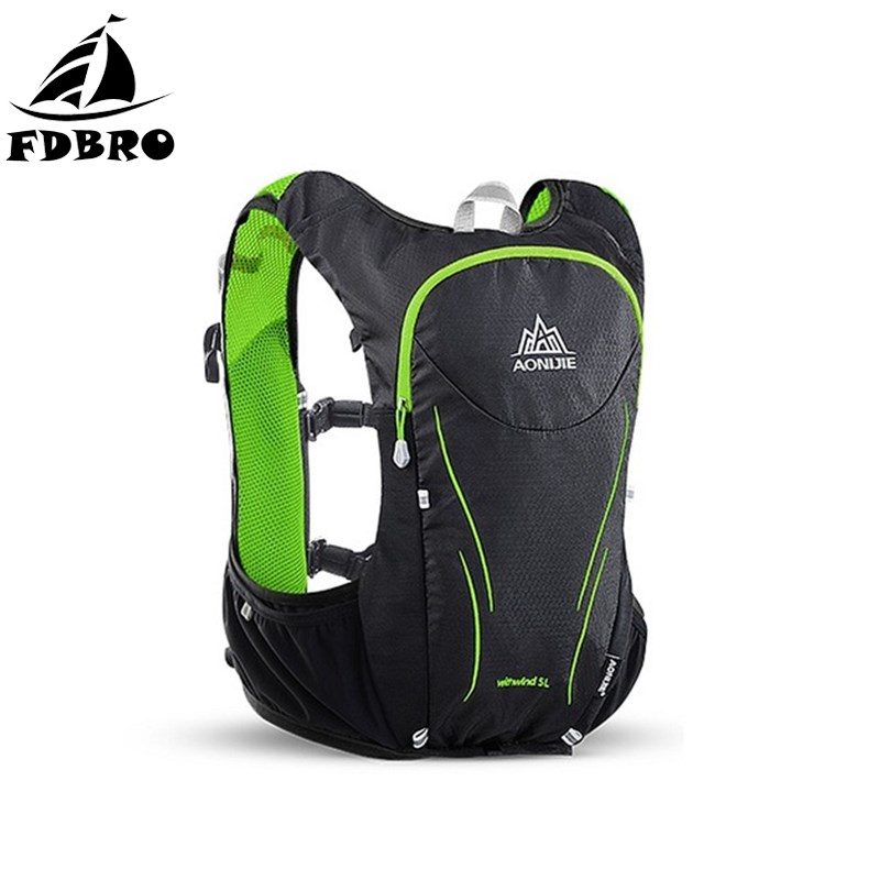 FDBRO 5L Outdoor Sports Backpack Hydration Backpack Rucksack Bag Vest Harness Cycling Hiking Camping Running Marathon Race