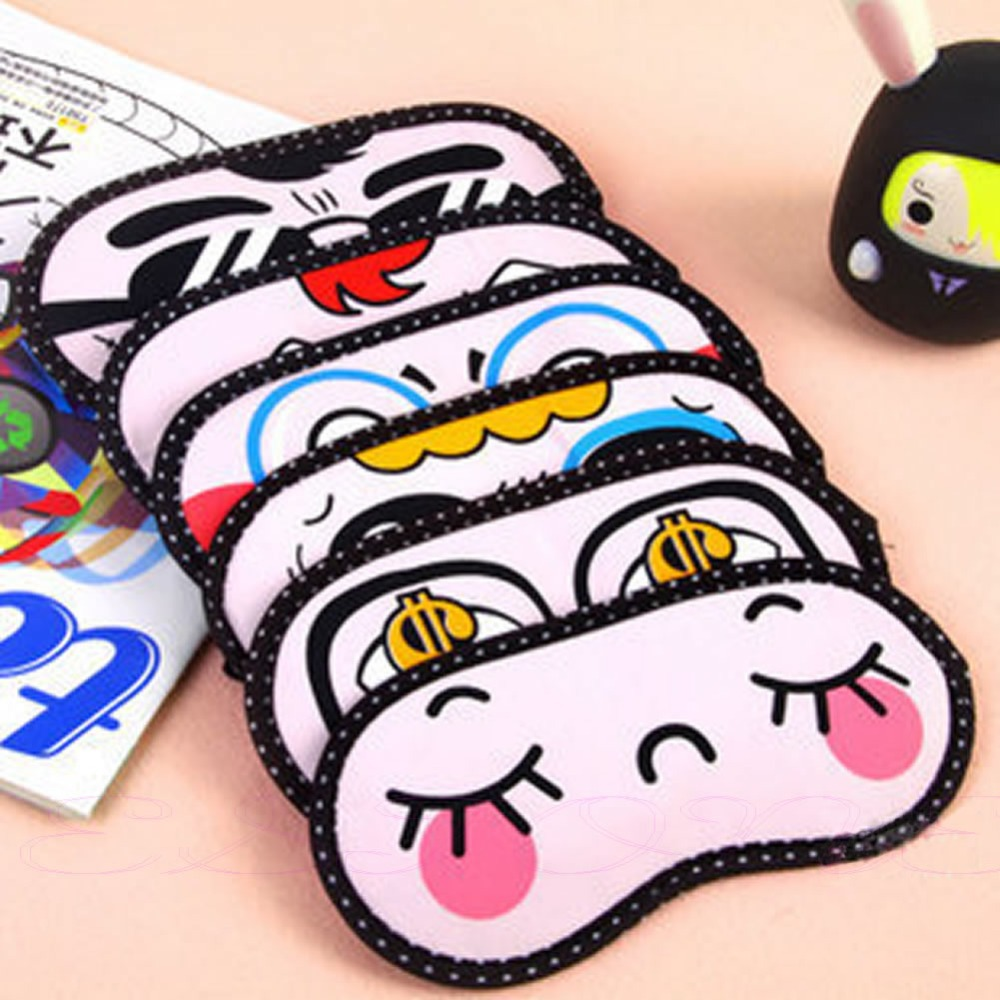 Купить с кэшбэком New Cute Sleeping Eye Mask Blindfold Shade Travel Aid Sleep Goggles Eye Patch