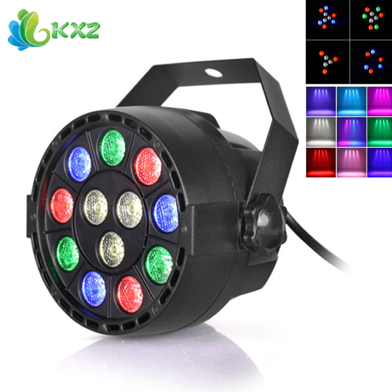 все цены на LED Stage Light Effect 12x3W Flat Par RGBW DMX512 DJ Disco Lamp KTV Bar Party Backlight Laser Beam Projector Dmx Spotlight онлайн