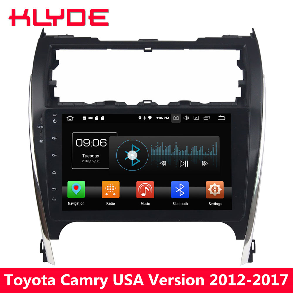 KLYDE 10.1 IPS 4G Android 8.0 Octa Core 4GB RAM 32GB ROM Car DVD Player Stereo Radio GPS Navigation For Toyota Camry 2012-2017