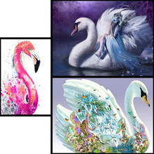 5D Butterfly Goose DIY Full Drill Diamond Embroidery Mosaic Painting Needlework Cross Stitch Decoration Wall Sticker