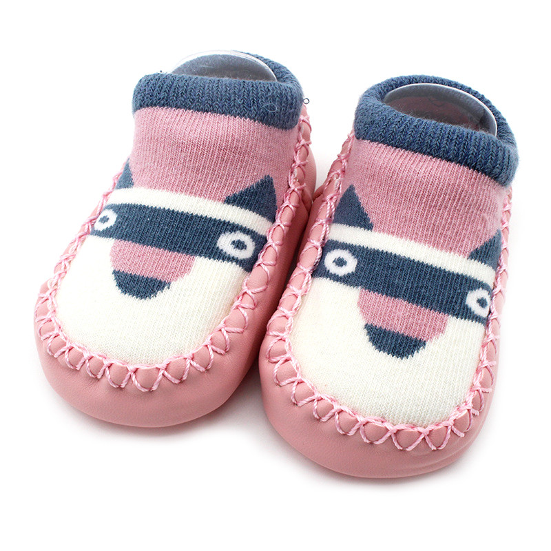 Baby boy girl shoes socks Children Infant Cartoon shoes Baby Gift Kids Indoor Floor shoes Leather Sole Non-Slip Thick Towel shoe