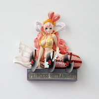 28cm Japanese anime figure One piece action figure Mermaid Shirahoshi Wall hanging collection model toys home decoration