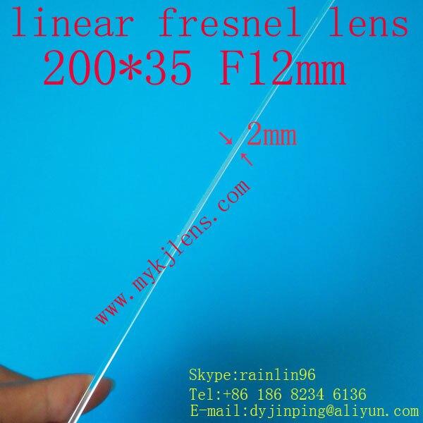 200 * 35mmF12mm lineární fresnel objektiv pro dopravu bez - Měřicí přístroje - Fotografie 3