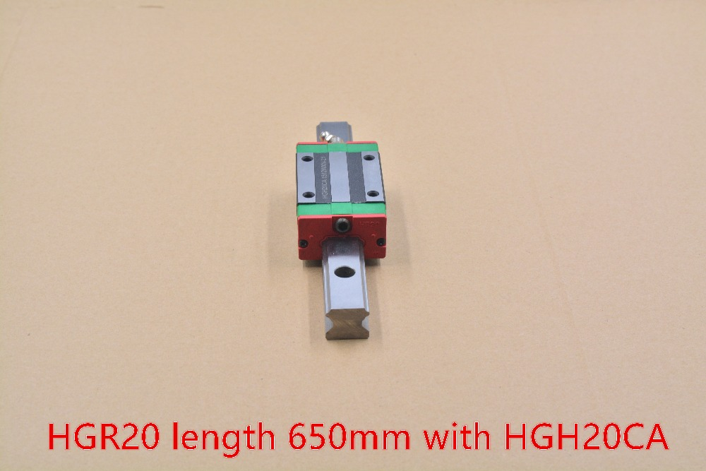 ФОТО HGR20 linear guide width 20mm length 650mm with HGH20CA linear motion slide rail for cnc xyz axis 1pcs