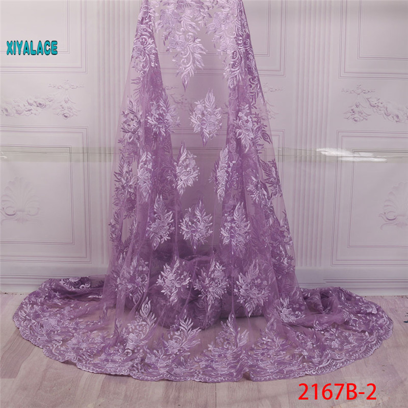 African Lace Fabrics 2019 Nigerian Swiss Voile Lace High Quality French Swiss Voile Lace Switzerland For Wedding YA2167B-2