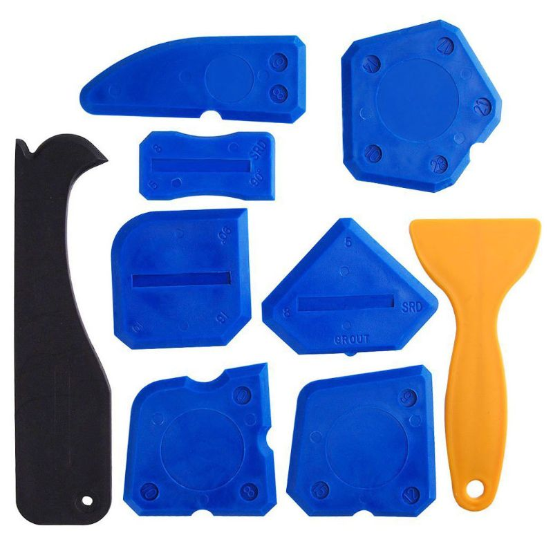 9Pcs Sealant Smoothing Sink Silicone Spreader Grout Remover Set Caulk Trimming Tools For Shower Caulk Sealing Projects image
