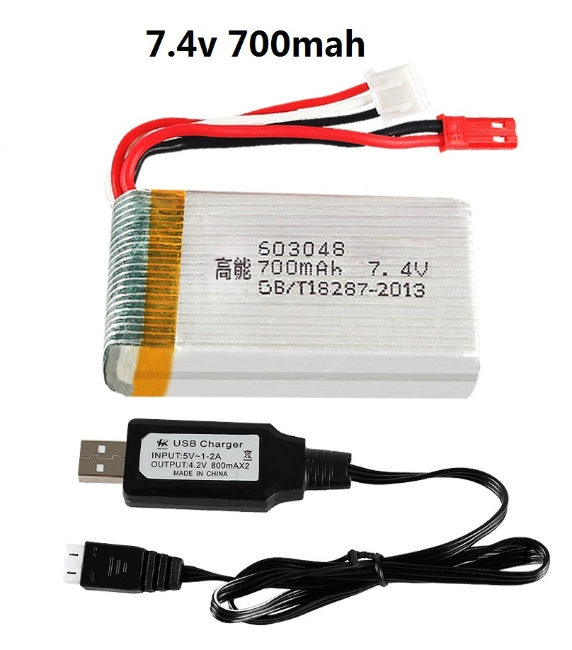 YUKALA 7.4V 700mAh/<font><b>1000MAH</b></font> 25C <font><b>Lipo</b></font> battery For X600 F46 aircraft model aircraft JXD391V <font><b>Lipo</b></font> battery <font><b>2s</b></font> 7.4V 700mAh 603048 image