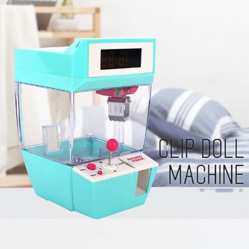 Toys Gadgets Claw-Machine Grabber Vending Music Mini Doll Slot-Game Caught Arcade Desktop