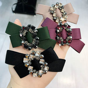 Korea Handmade Flower Crystal Hair Accessories For Girls Pearl Hair Bows Rim Hairpin Hair Clips Barrette