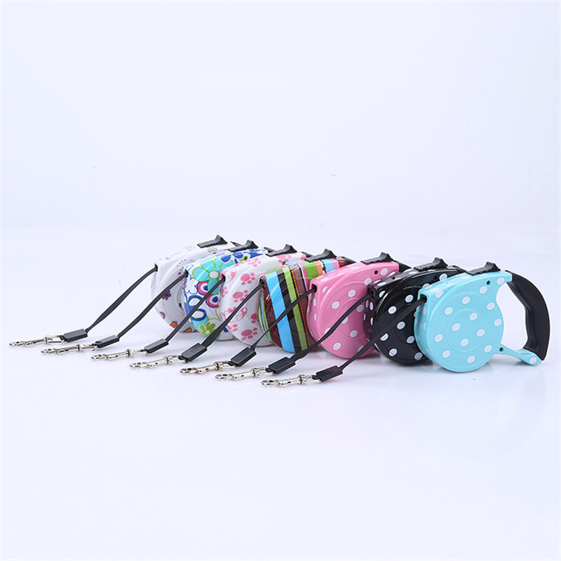 Dog Collars & Leads Considerate 3m/5m Colorful Retractable Dog Leash Extending Puppy Walking Leads Pet Dog Running Leashes Hands Freely Great For Walking Dog Customers First