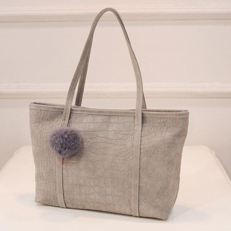 2016 new fashion handbags simple wild casual shoulder bag big bag European and American crocodile pattern matte handbags  zs586