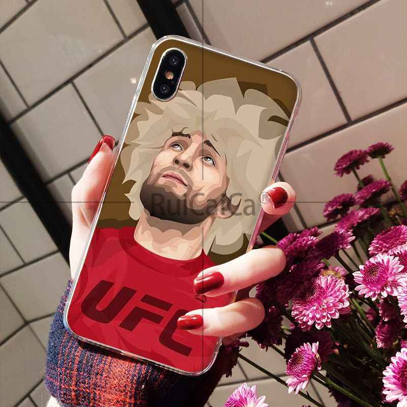 Ruicaica khabib nurmagomedov UFC الجدة Fundas غطاء إطار هاتف محمول ل أبل فون 8 7 6 6 S زائد X XS ماكس 5 5 S SE XR غطاء