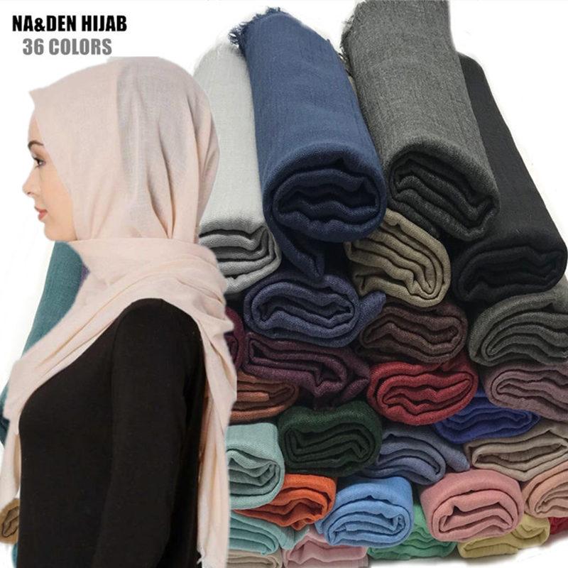 High quality plain maxi scarf hijab fringe fashion women soft shawl foulard muslim hijabs popular solid
