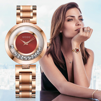 GUOU Wrist Watches Women Watches Luxury Quicksand Casual Relogio Femino Time Clock Rhinestone Lady Wrist Watches