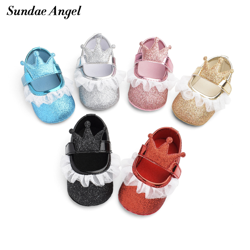 Hook Newborn-Shoes Sundae Angel First-Walkers Infant Toddler Girl Breathable Anti-Slip